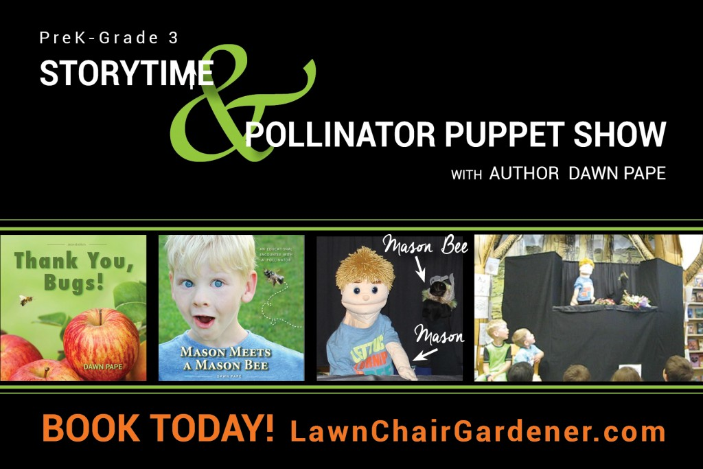 Book your pollinator puppet show now!