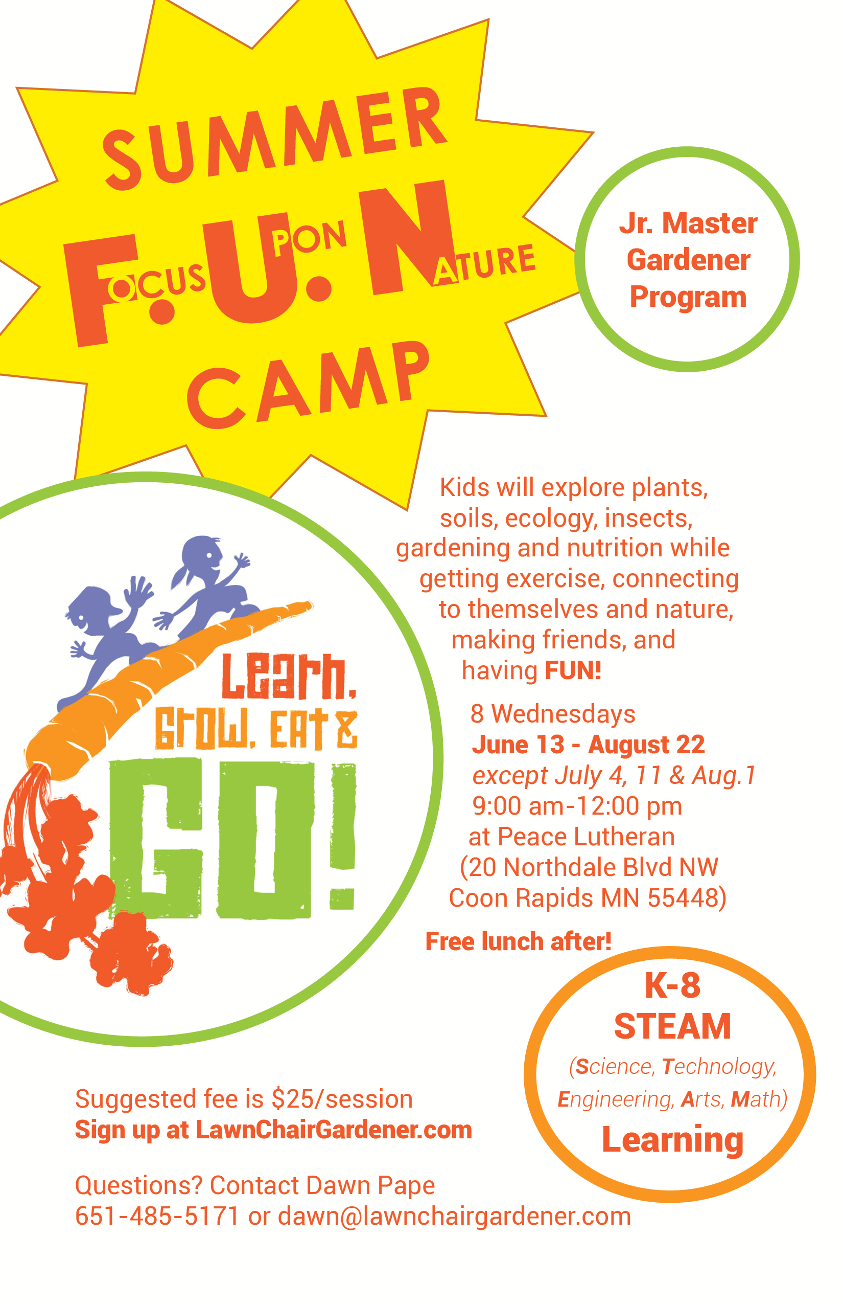 Summer Focus Upon Nature Camp Flyer